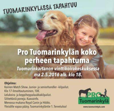 Pro Tuomarinkylän koko perheen tapahtuma ma 2.5.2016 klo 18