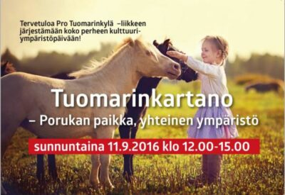 Tuomarinkartano – Porukan paikka, yhteinen ympäristö su 11.9.2016 klo 12-15
