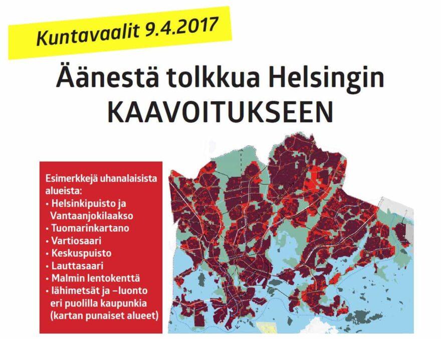 Maastoilmoitus - Äänestä tolkkua Helsingin kaavoitukseen.